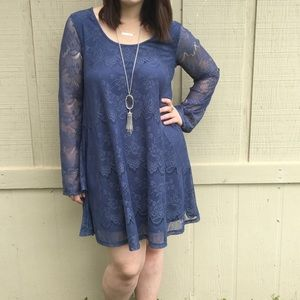 Altar'd State blue dress medium